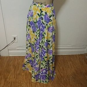BLOOMING FLOWER LONG SKIRT